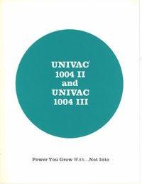 Univac 1004 II and Univac 1004 III