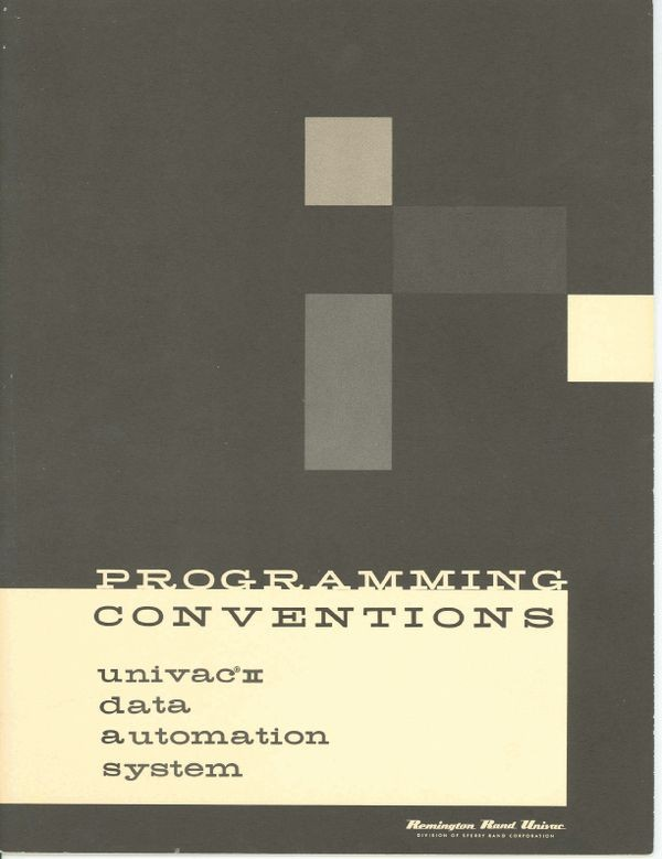 Programming Conventions Univac II Data Automation System