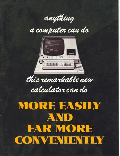 Anything a Computer Can Do this Remarkable New Calculator Can Do More   Easily and Far More Conveniently.