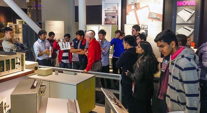 Delegation of young Asian entrepreneurs tour CHM's Revolution exhibition.