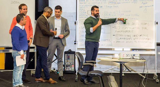 Team of Global Executive MBA students from IESE present learnings