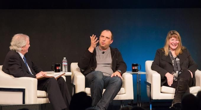 Michael Malone, Jan Koum, and Heidi Roizen share stories and laughs at <em>Silicon Valley: The Untold Story</em> premiere event.