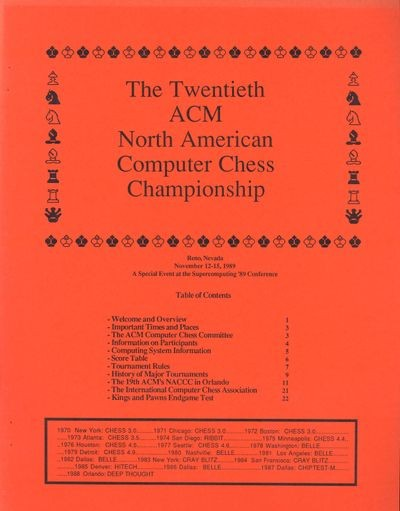 The Twentieth ACM North American Computer Chess Championship