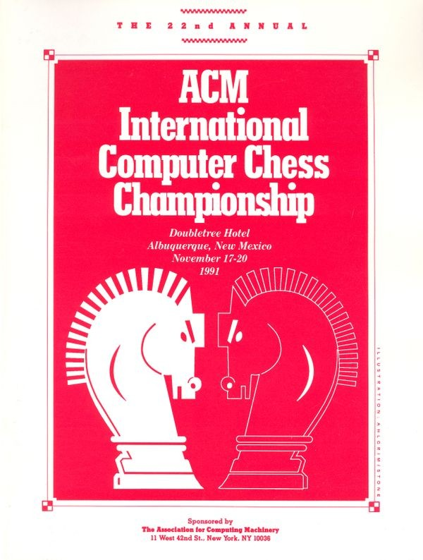 The 22nd ACM International Computer Chess Championship program cover