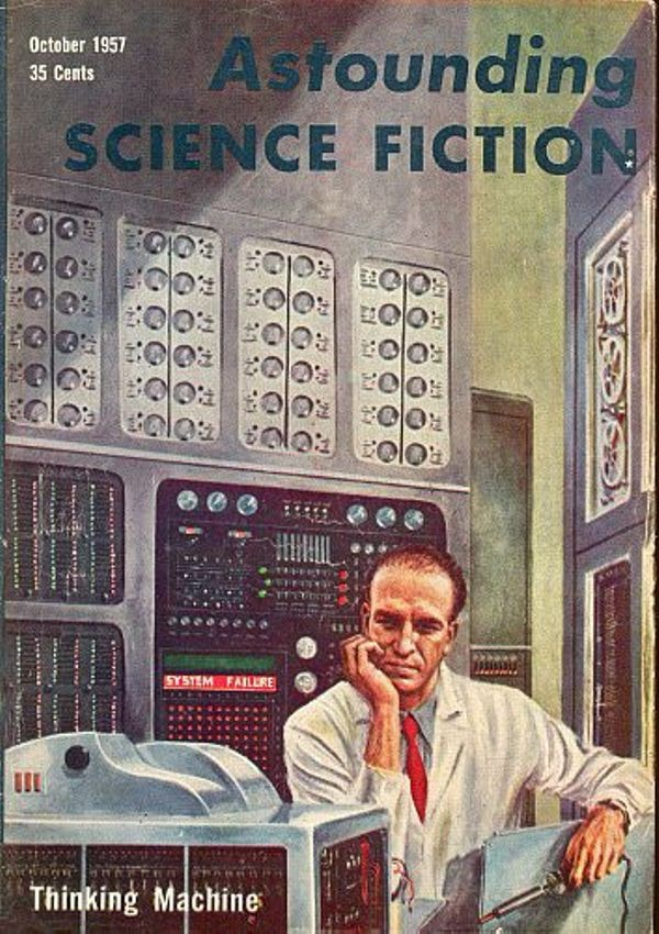 Thinking Machine, Astounding Science Fiction cover