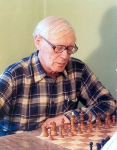 International Grandmaster and World Champion Mikhail Botvinnik in Moscow