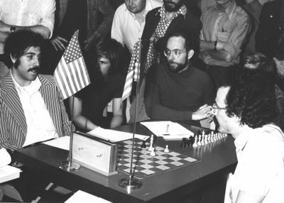 Slate, Swartz, and Rubin at 1st World Chess Championship in Stockholm