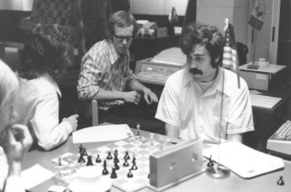 Hansen, Perry and Slate at 1st World Computer Chess Championship in Stockholm