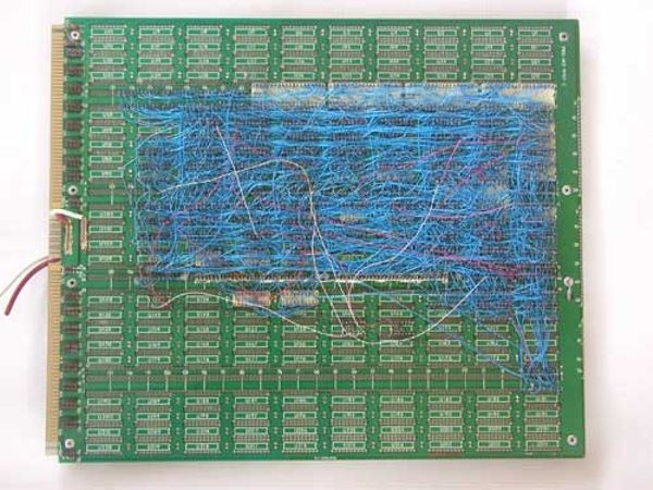 ChipTest prototype, main circuit board (rear view)