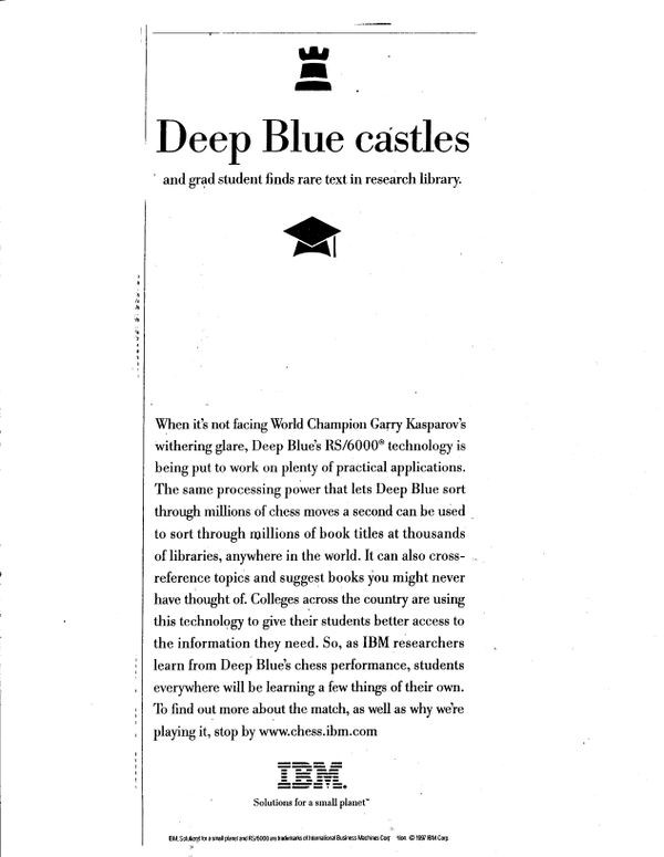 IBM advertisement: Deep Blue Castles