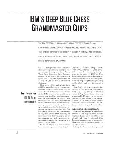 IBM's Deep Blue Chess Grandmaster Chips