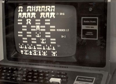 Microchess running on Radio Shack TRS-80 microcomputer