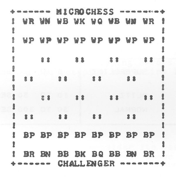 Microchess print-out