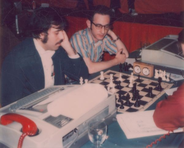 Slate and Atkin at the 6th ACM North American Computer Chess Tournament in Minneapolis, Minnesota