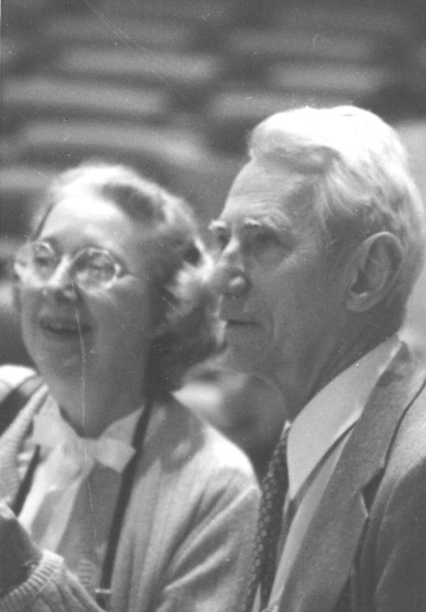 Betty and Claude Shannon at the 3rd World Computer Chess Championship in Linz, Austria