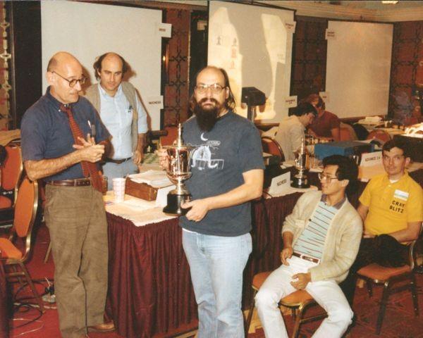 Valvo, Mittman, Newborn and Thompson at the 13th North American Computer Chess Championship in Dallas, Texas