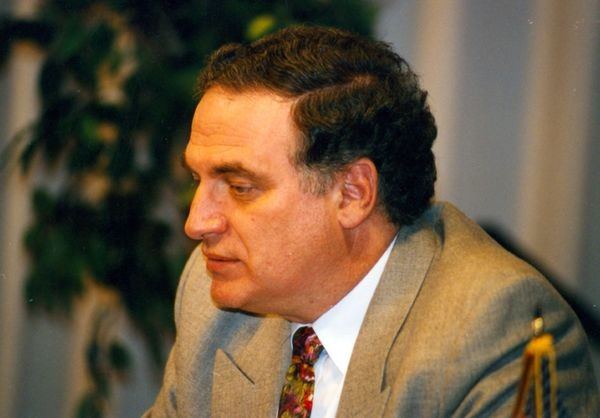 Michael Valvo at the Deep Blue vs. Kasparov match in Philadelphia, Pennsylvania