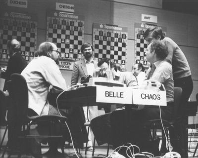 Belle vs CHAOS at 3rd World Computer Chess Championship in Linz, Austria
