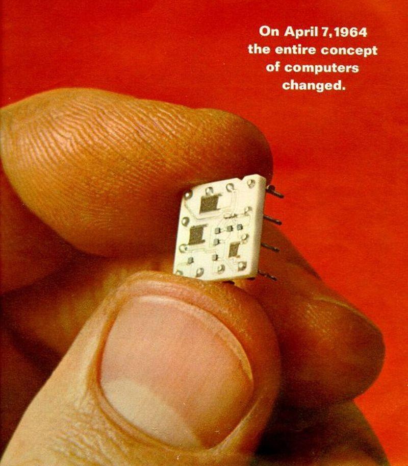 IBM 360 SLT module, 1965