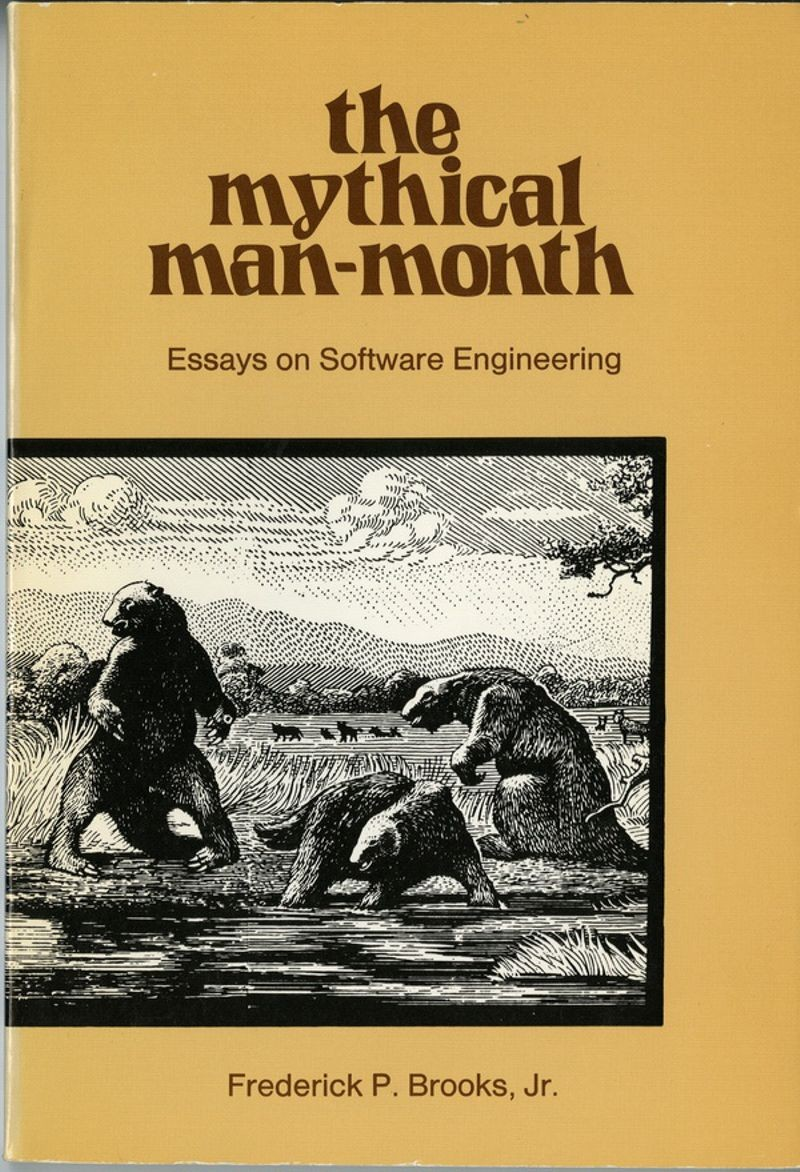 Cover, The Mythical Man-Month, 1975