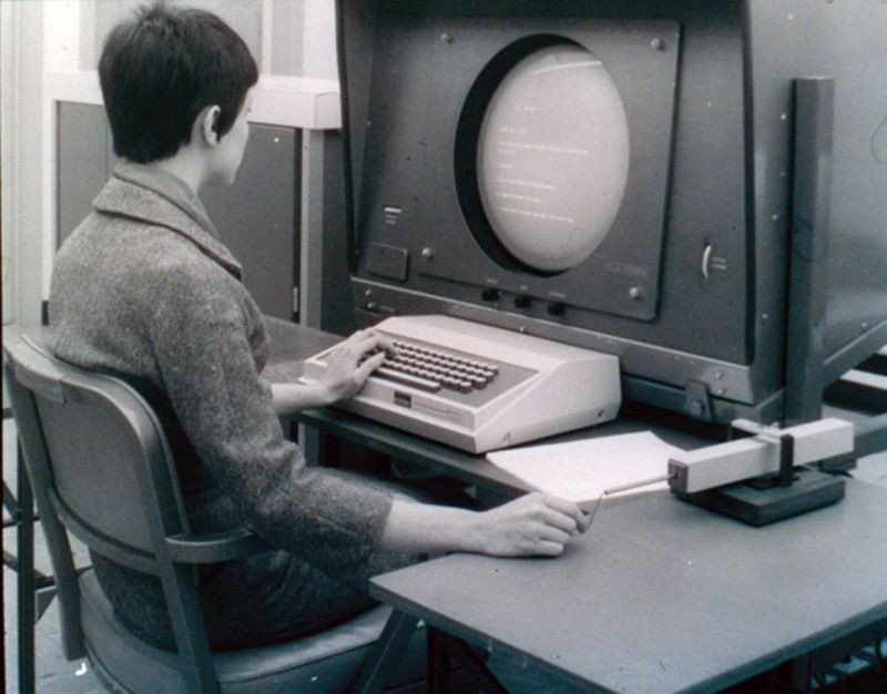 NLS workstation, ca. 1968