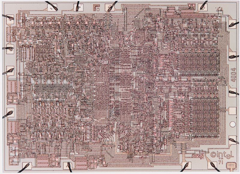 Intel 4004 die shot, 1971