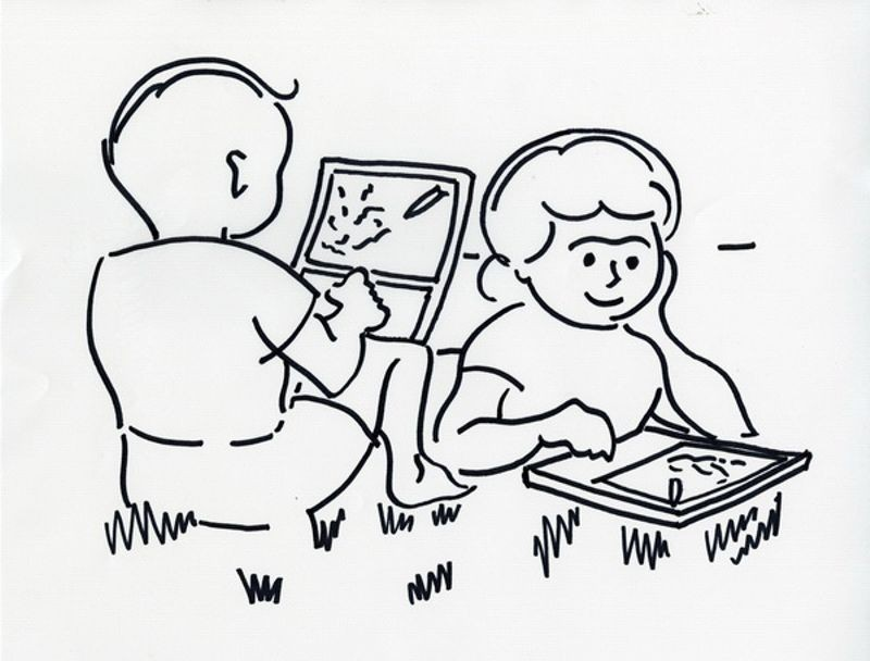Children using proposed Dynabook, 1968