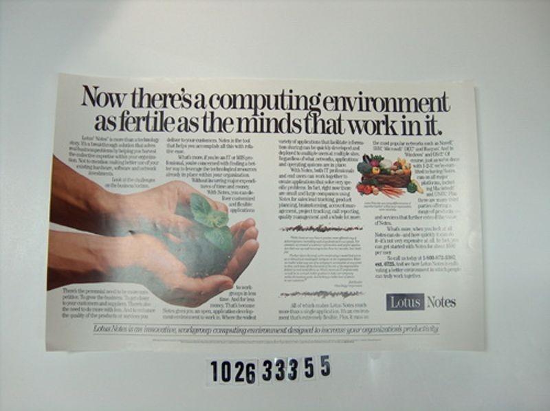 Lotus Notes advertisement