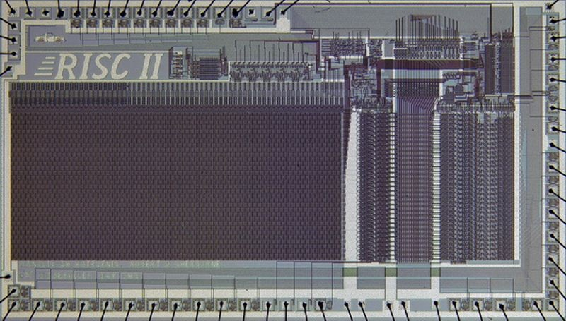 Die shot of Berkeley RISC II chip.