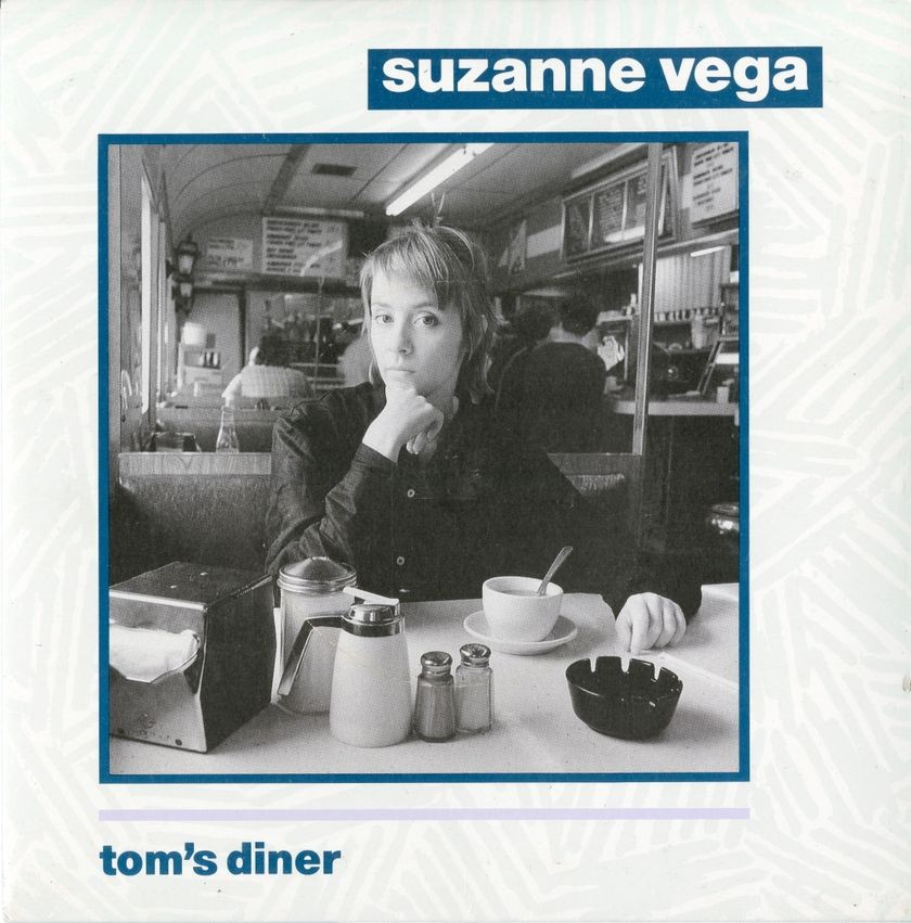 "Album cover, ""Tom's Diner,"" by Suzanne Vega"