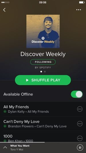 Spotify application