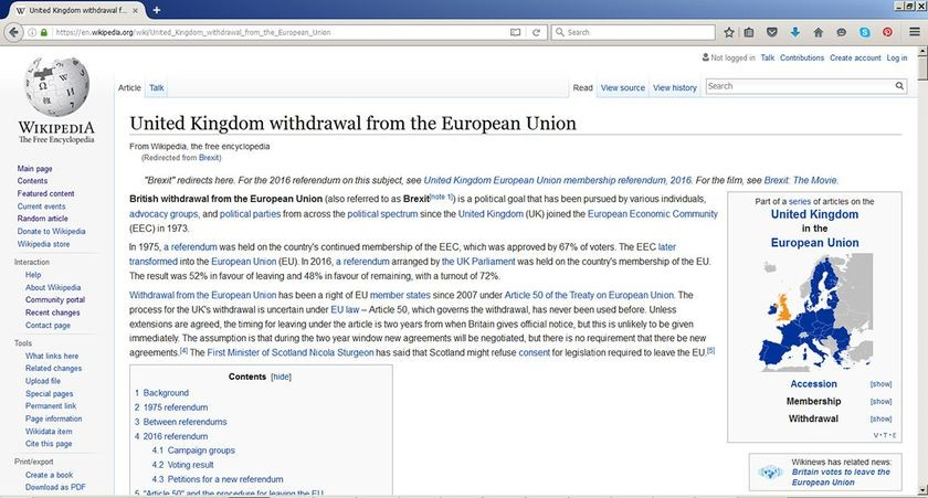 """United Kingdom European Union membership referendum, 2016"" article"