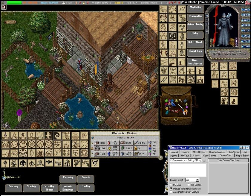 Screenshot from <em>Ultima Online</em>, 1997
