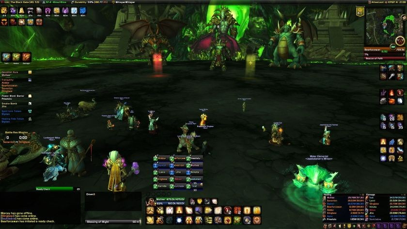 Screenshot of user interface for Advanced, <em>WoW: Warlords of Draenor</em>, 2014