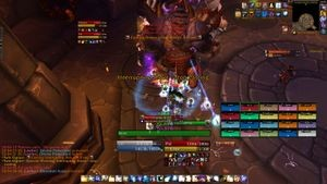 Screenshot of user interface for Raid, <em>WoW: Warlords of Draenor</em>, 2014