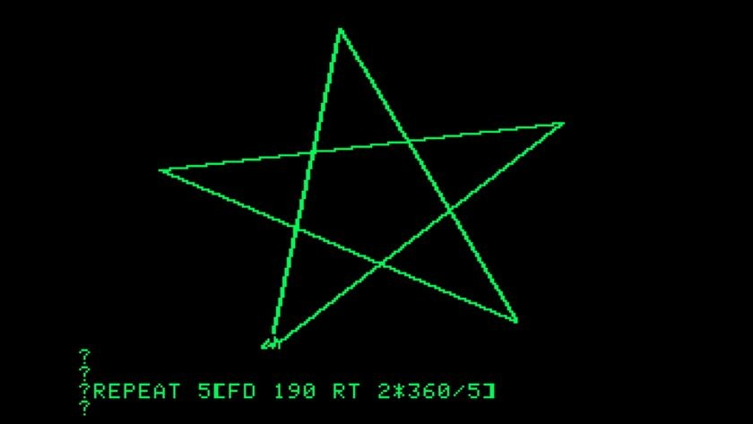 LOGO programming on Apple II, ca. 1980