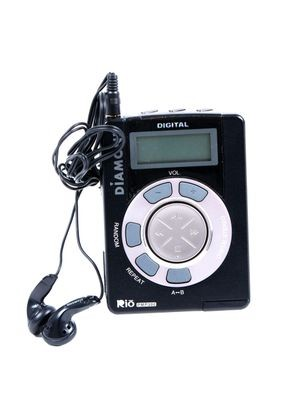 Rio PMP300 player and ear phones, 1998