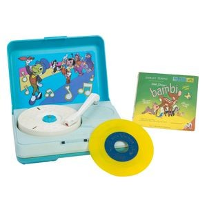 Walt Disney's Bambi storybook recording, 1940sErtl Company child's record player, 1960s