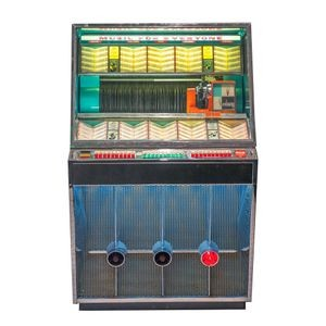 Seeburg model 201 jukebox, ca. 1958, The Pontiac Grill, Santa Cruz, California (original location)