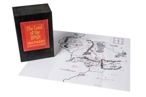 <em>Lord of the Rings</em>, by J. R. R. Tolkien, 1954 and map of Middle-earth, 1965