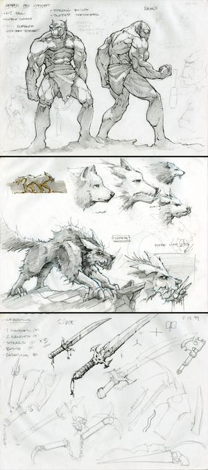 Thavirat's sketchbook for <em>World of Warcraft</em>, ca. 1999