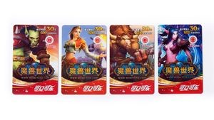 <em>WoW</em> Coca Cola Rewards cards, ca. 2010