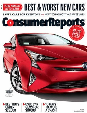 """Auto Issue,"" <em>Consumer Reports</em>, April 2016"