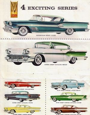 Pontiac Bonneville Super Chief and Star Chief advertisement, 1958