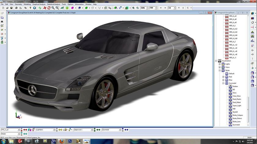 CAD model of car using 3DCS analysis software, 2012