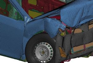 DYNA3D simulated car crash (detail), 2016