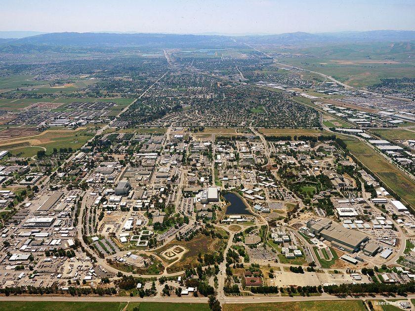 LLNL aerial view, ca. 1997