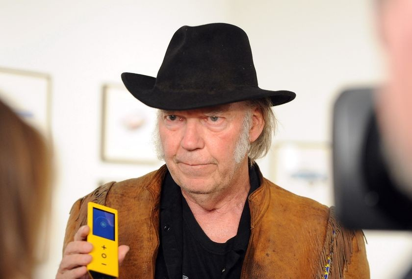 Neil Young at Robert Berman Gallery, November 3, 2014