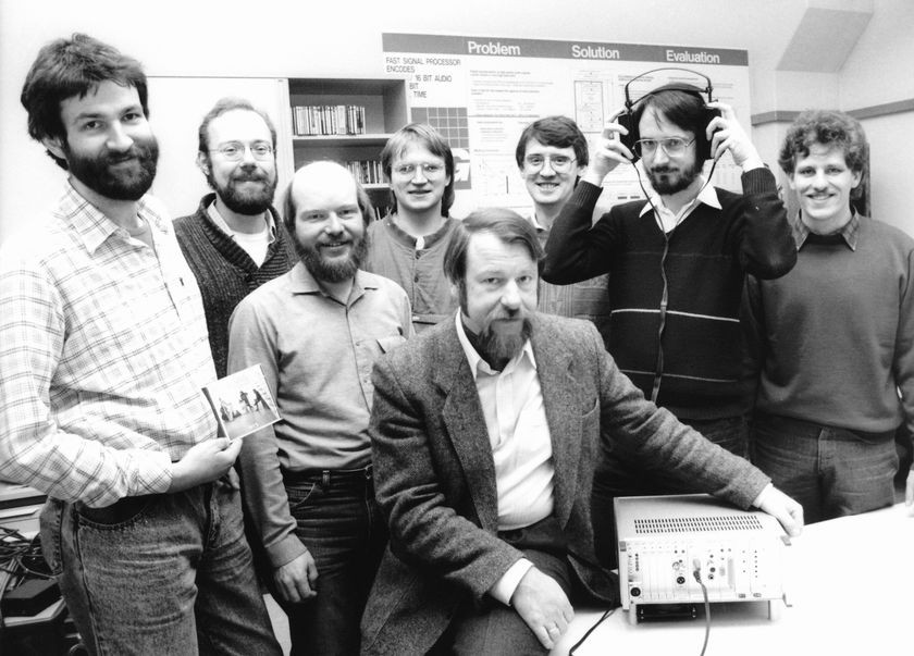 Audio team in 1987 (Brandenburg with headphones)