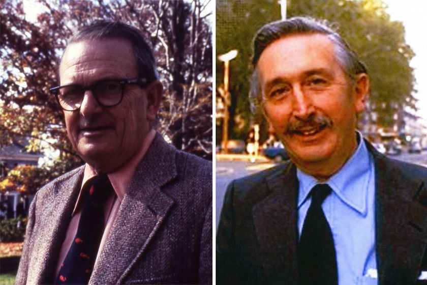1970s: Allan M. Cormack (left) and Godfrey N. Hounsfield (right), 1979 Nobel Prize (shared)